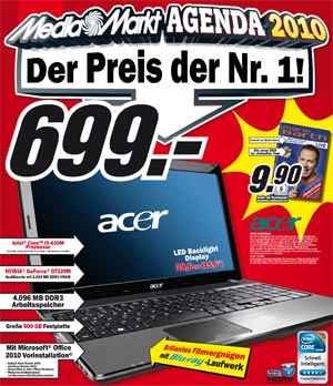 Acer 5741G-434G50Bnkk Notebook beim Media Markt