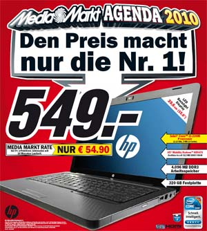 Media Markt bietet HP G62-a05SG Notebook