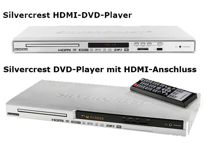 silvercrest dvd player mit hdmi schnittstellen bei lidl. Black Bedroom Furniture Sets. Home Design Ideas